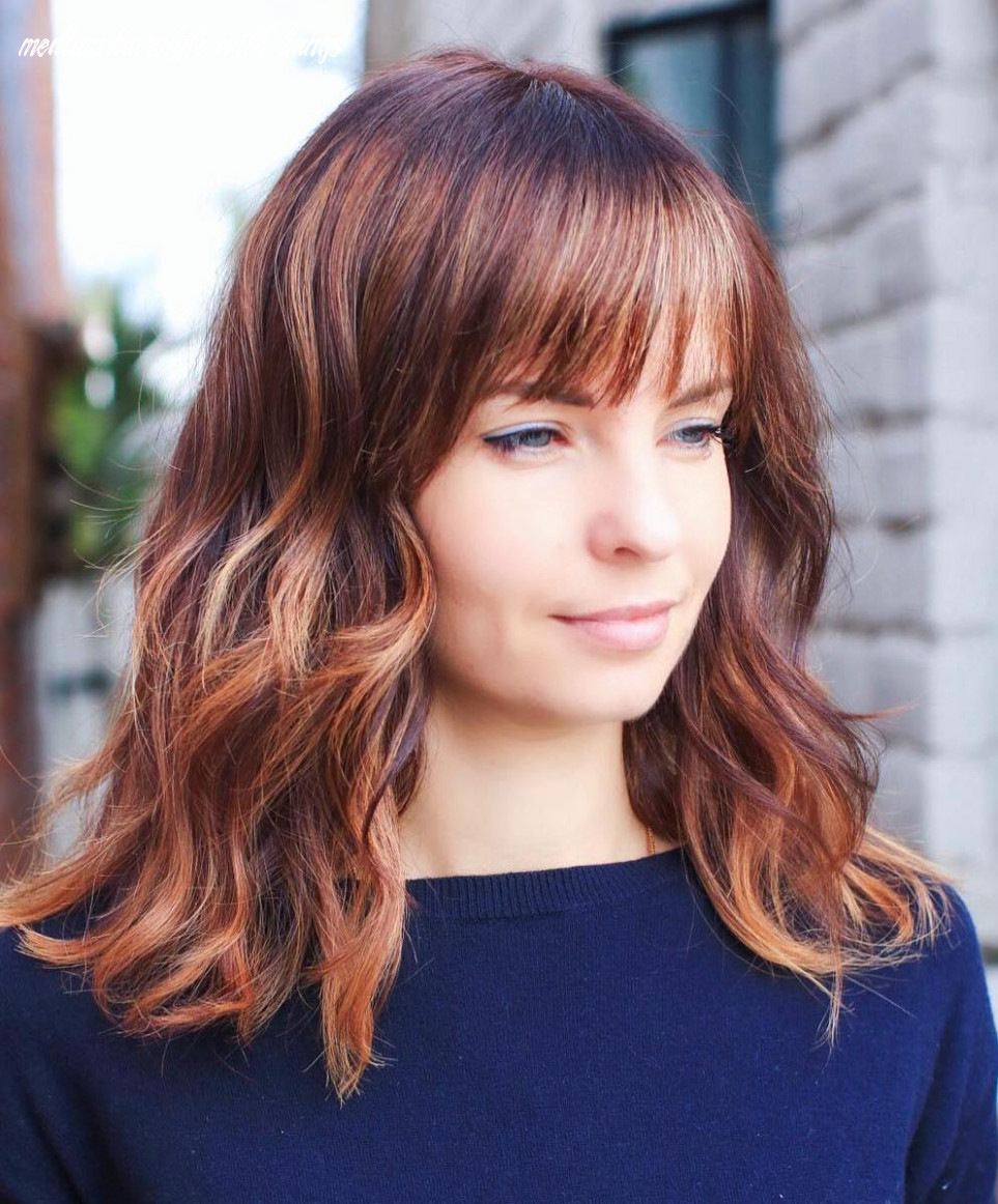 9 medium length hairstyles for thick hair ⋆ palau oceans medium hairstyle with bangs