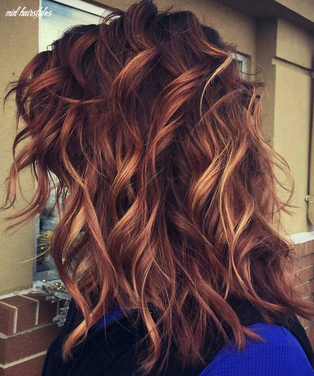 9 medium long hairstyles for thick hair in super beautiful colors ...