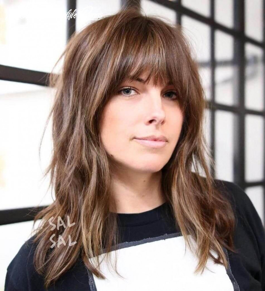 9 medium shaggy hairstyles to get stylish look | bangs with