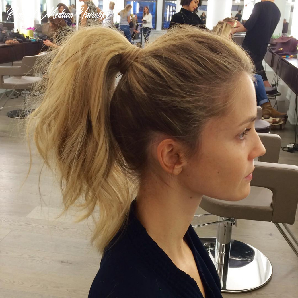 9 messy ponytails for every occasion reviewtiful ponytail medium hairstyle