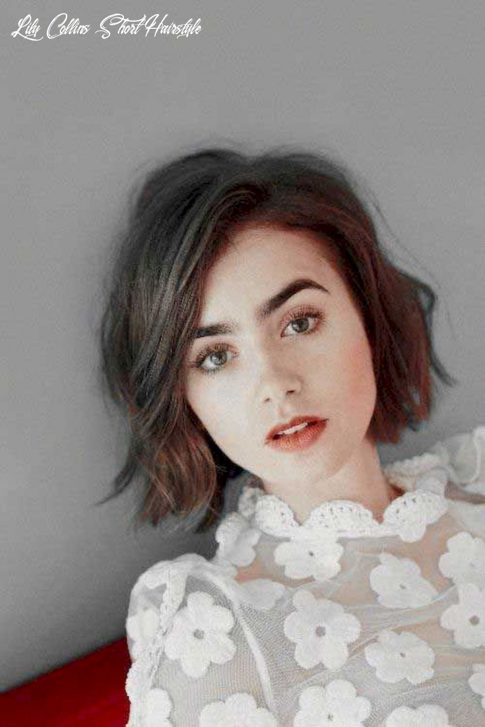 9 messy short hair for pretty girls | lily collins short hair