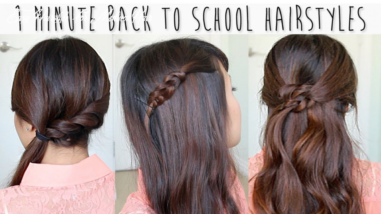 9 Minute Back to School Hairstyles for Medium Long Hair Tutorial
