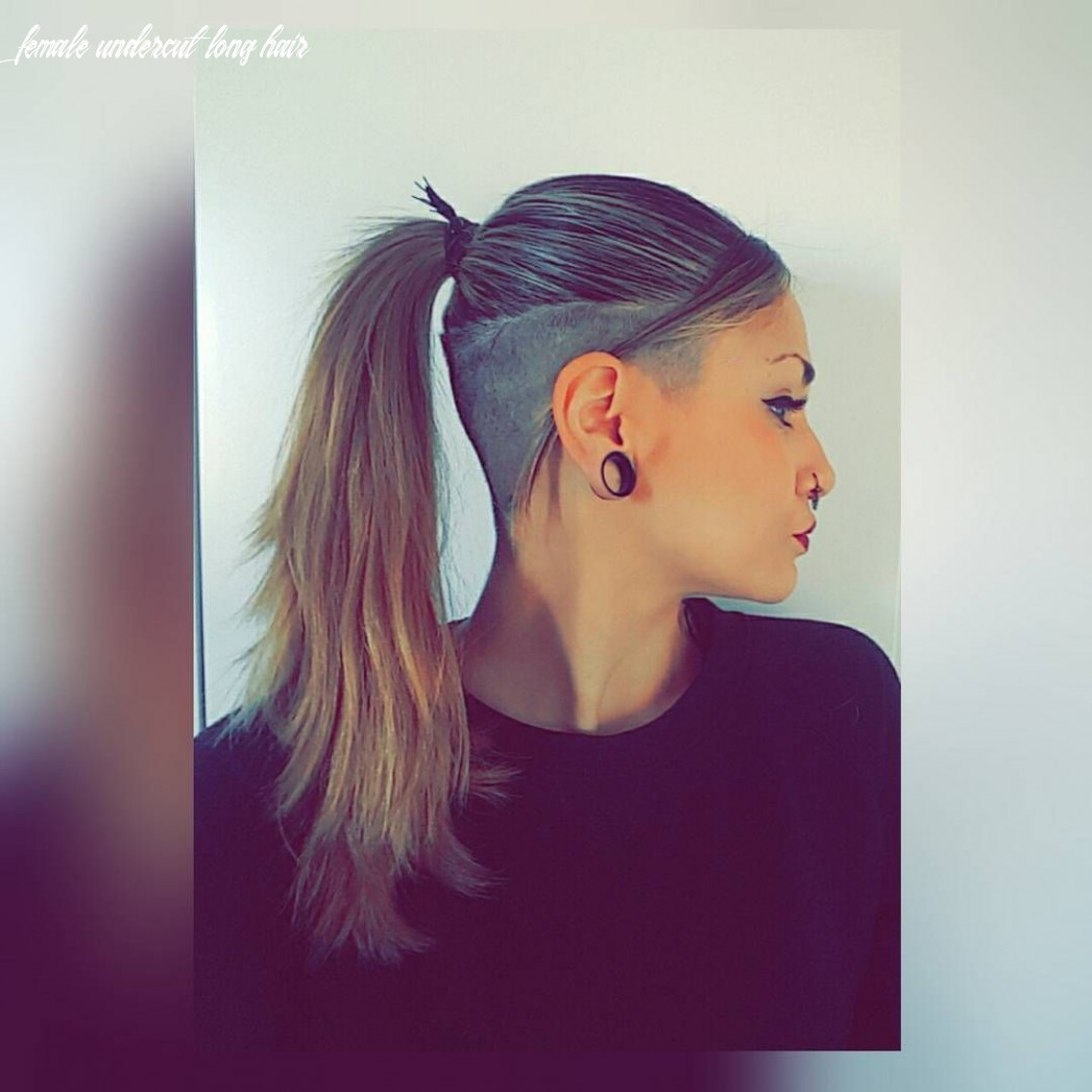 9 most interesting undercut hairstyles for women | undercut hairstyles female undercut long hair