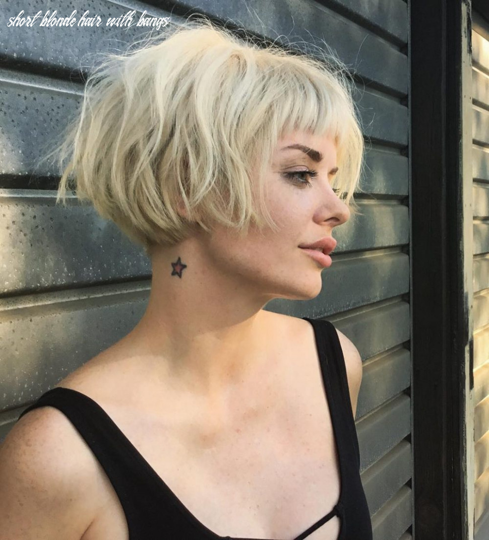 9 new & fresh short blonde hair ideas for 9 short blonde hair with bangs
