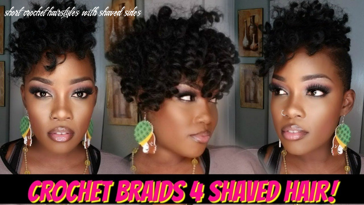 😍9 pack crochet braid quickie 9 shaved hair! | jamaican bounce short crochet hairstyles with shaved sides