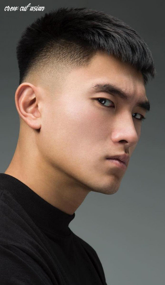 9 popular and edgy asian hairstyles for men styleoholic crew cut asian