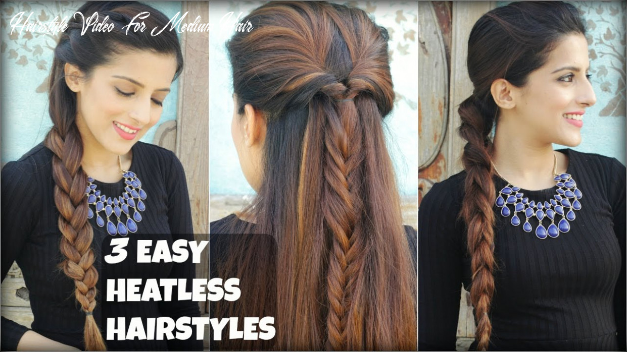9 QUICK & EASY Everyday Braided Hairstyles For Medium To Long Hair |  Heatless Hairstyles
