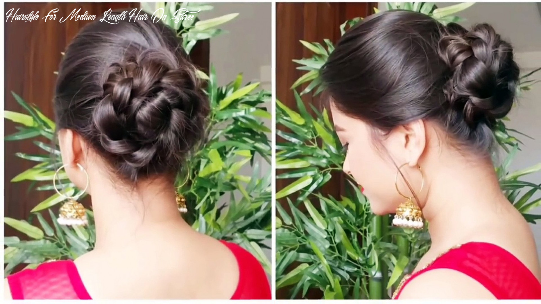 9 quick&easy indian bun hairstyles for saree/anarkali/lehnga//party hairstyles for medium/long hair hairstyle for medium length hair on saree