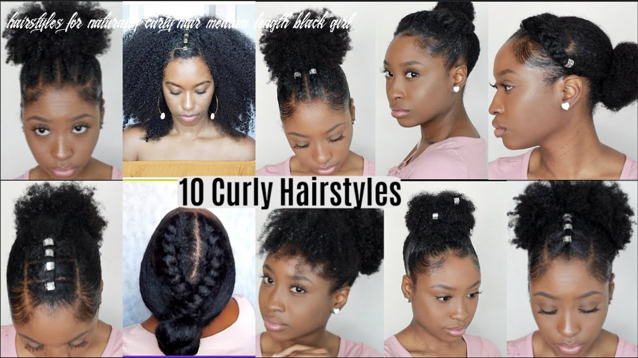 9 quick easy hairstyles for natural curly hair   instagram inspired hairstyles hairstyles for naturally curly hair medium length black girl