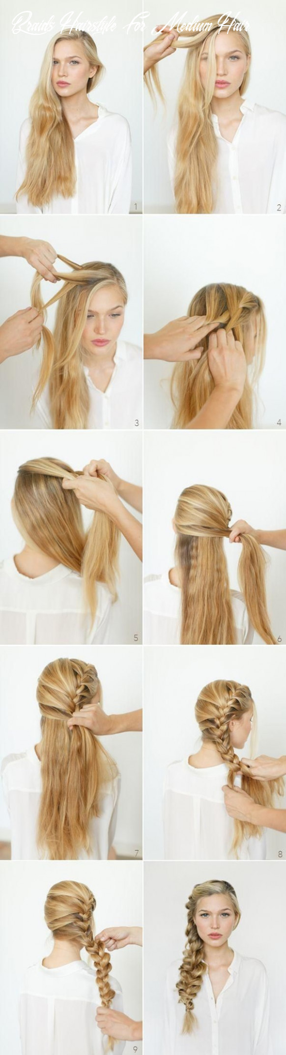 9 romantic braided hairstyles for long hair and medium hair braids hairstyle for medium hair