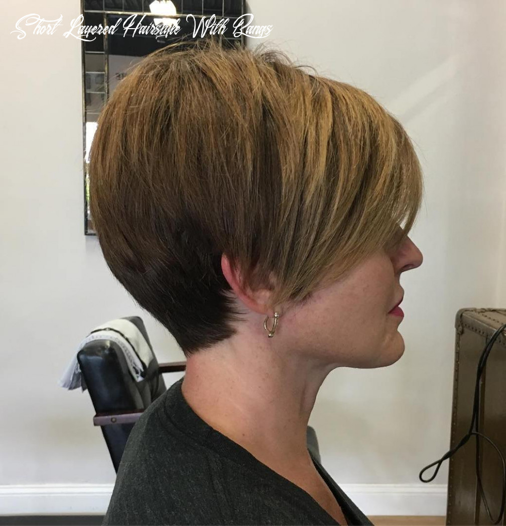 9 short layered haircuts trending in 9 hair adviser short layered hairstyle with bangs