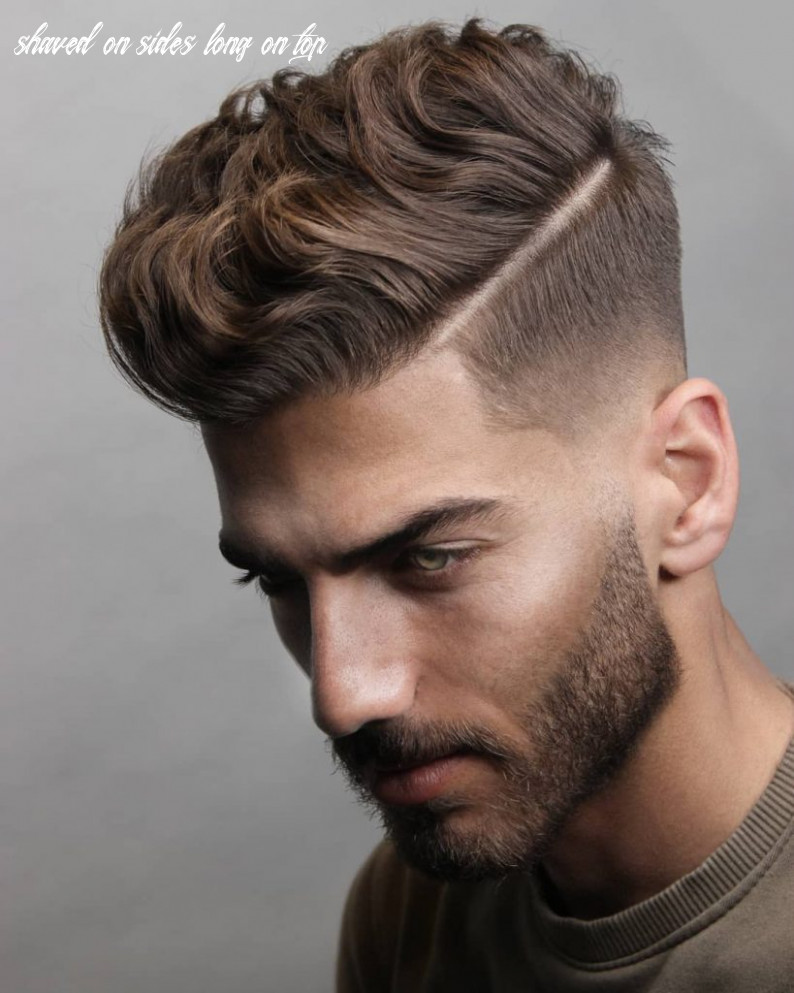 9 short on sides long on top haircuts for men | man haircuts shaved on sides long on top
