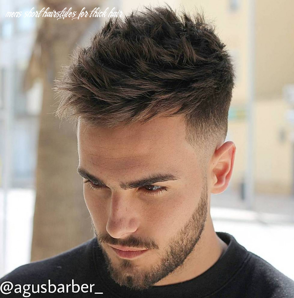 9 statement hairstyles for men with thick hair mens short hairstyles for thick hair