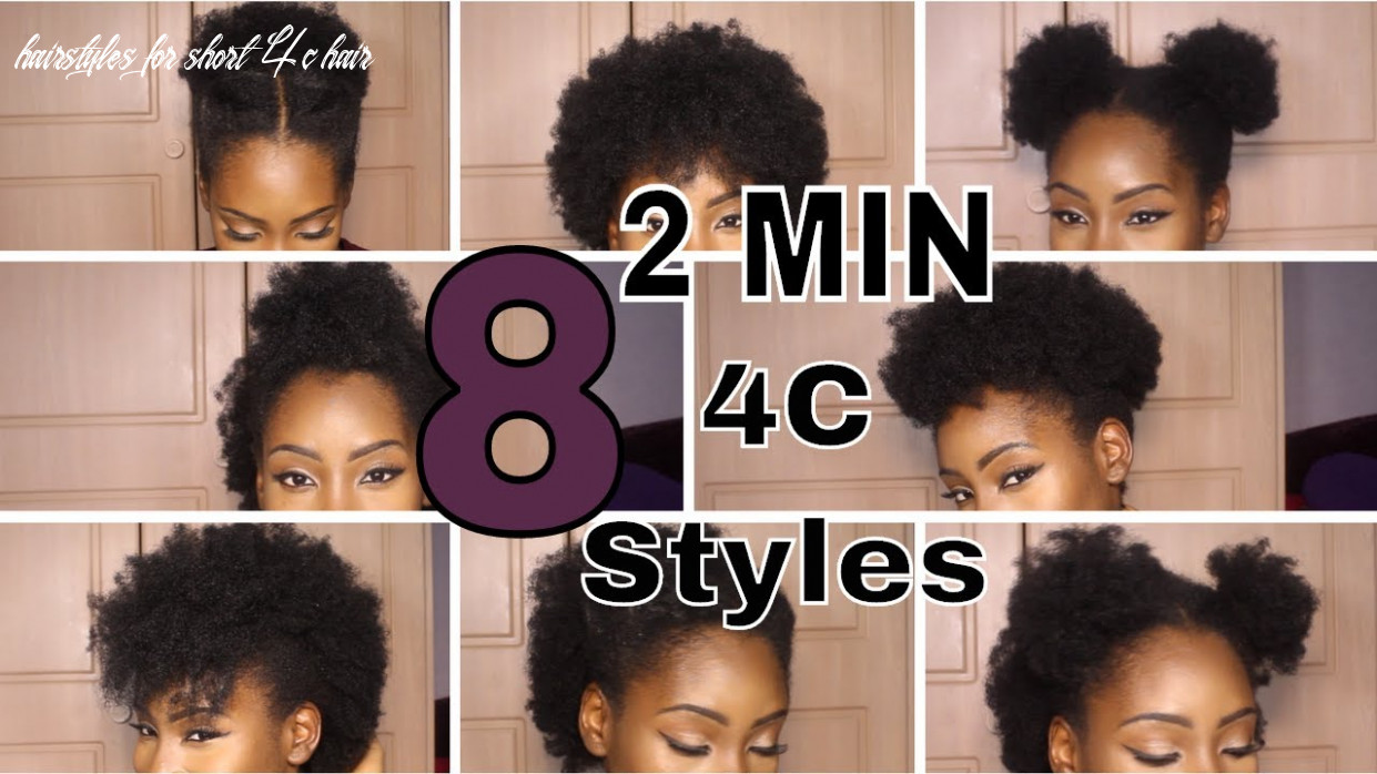 9 super quick hairstyles on short 9c hair hairstyles for short 4c hair