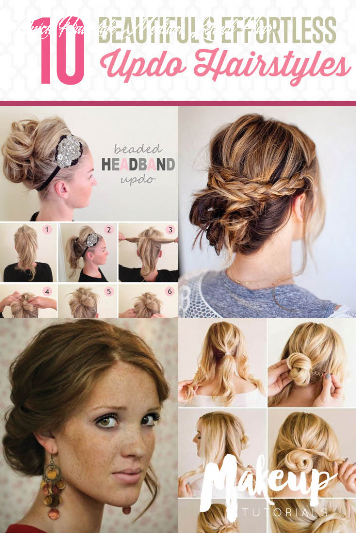 9 updo hairstyle tutorials for medium length hair the blessed
