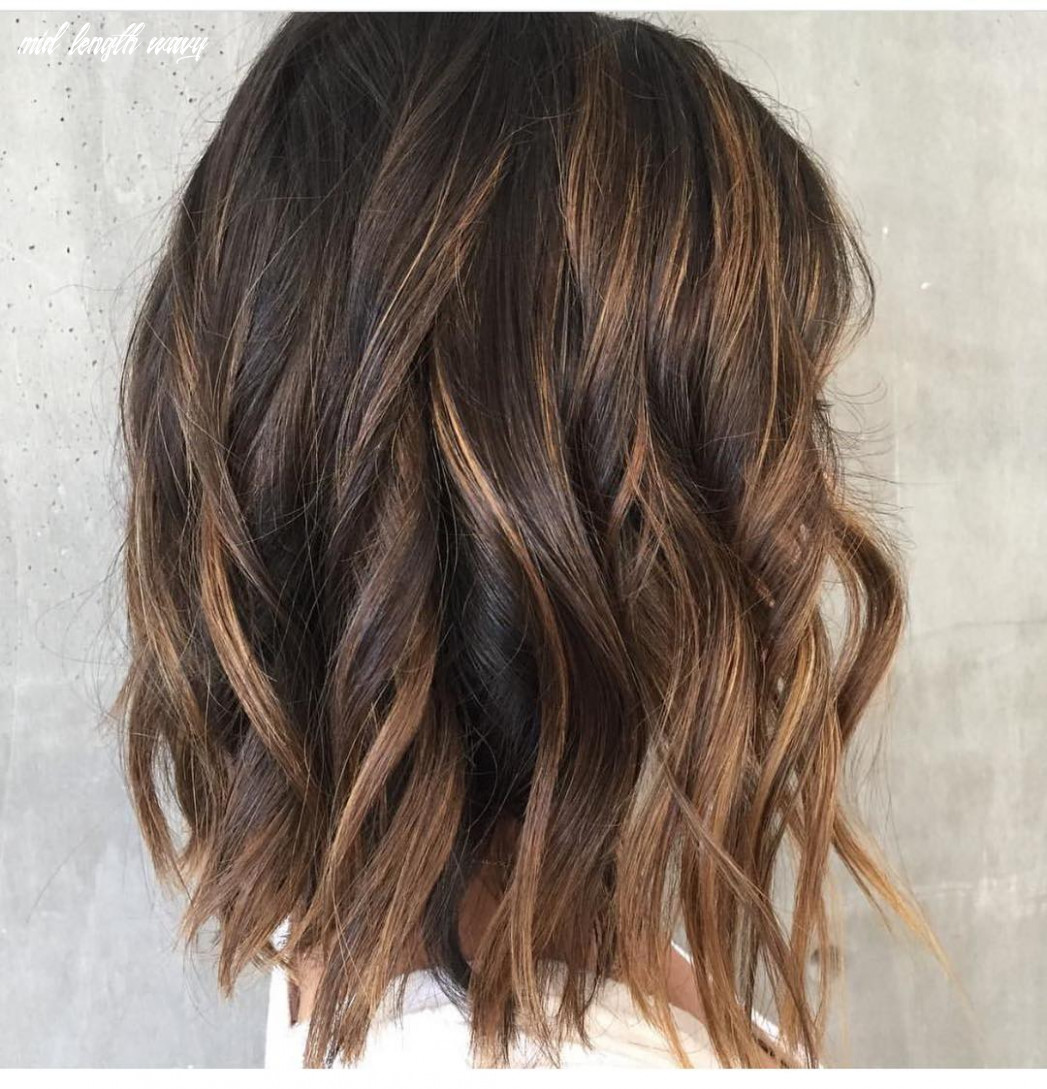 9 wavy shoulder length hairstyles 9 mid length wavy