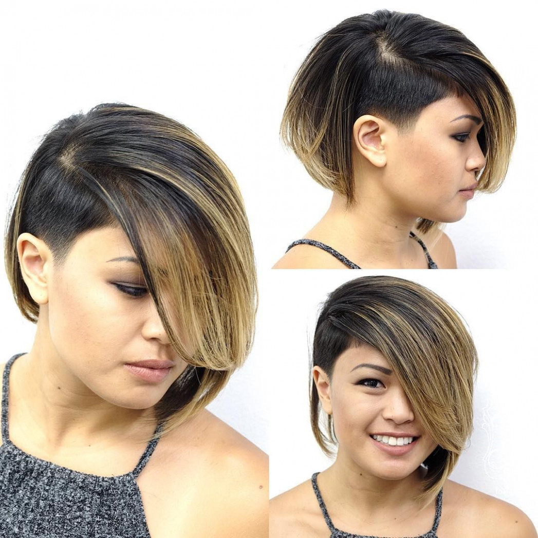 All sizes | eccentric asymmetrical undercut bob with side swept