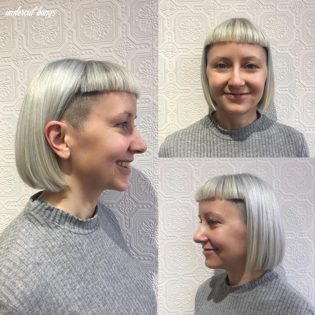 All sizes | silver undercut bob with blunt baby bangs | flickr