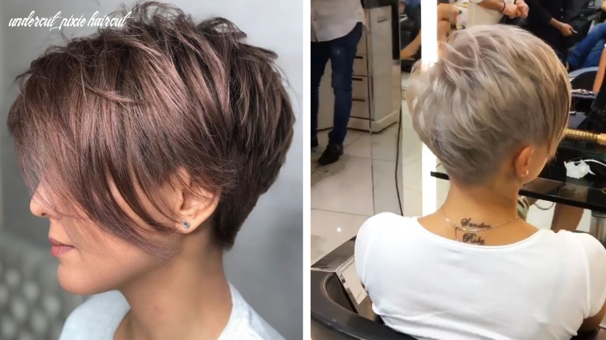 Amazing feathered pixie with nape undercut 11 | love pixie haircut | hottest haircut compilation undercut pixie haircut