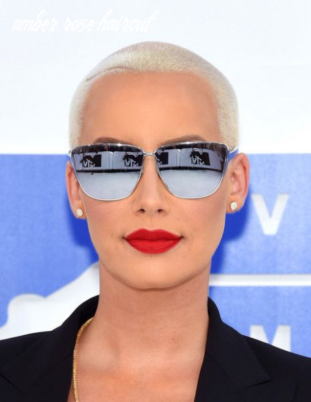 Amber rose buzzcut | amber rose sunglasses, haircut styles for
