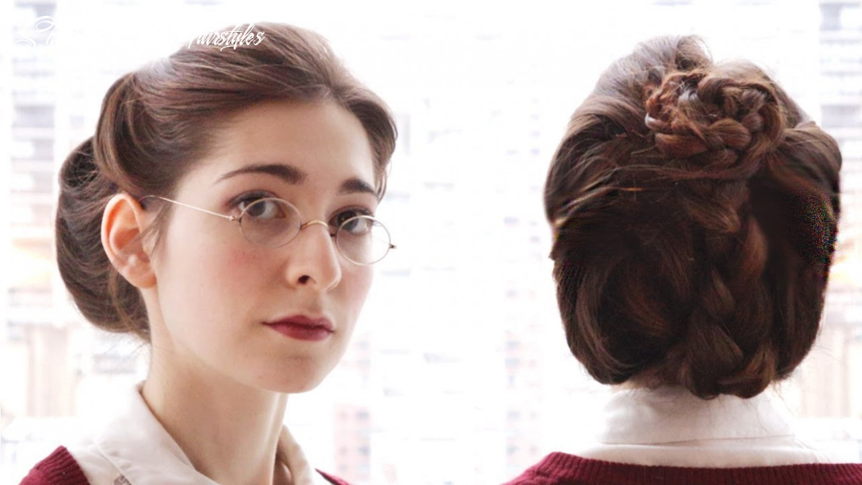 An everyday victorian style updo short victorian hairstyles