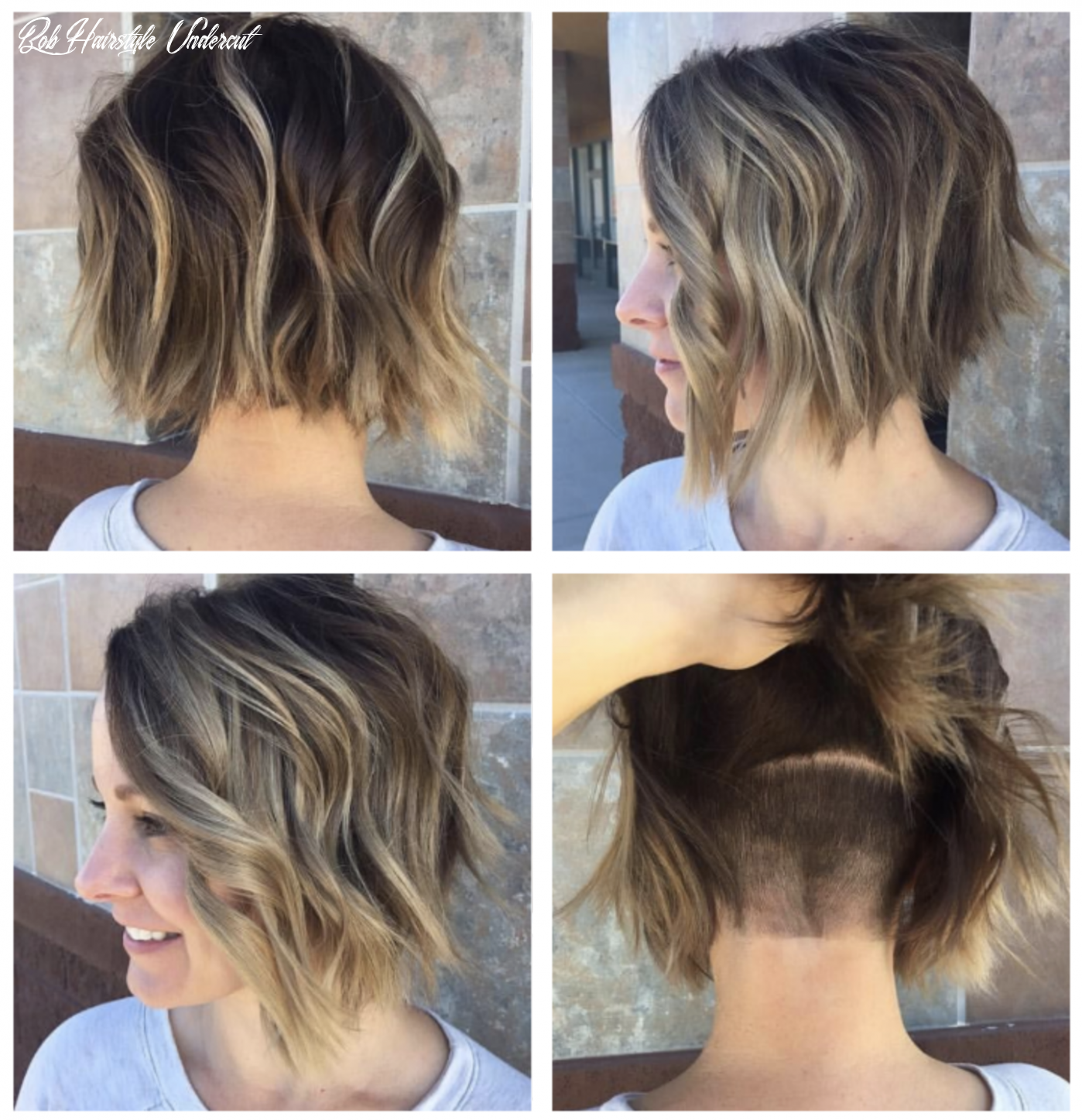 Angled bob with hidden undercut | bob hairstyles for thick