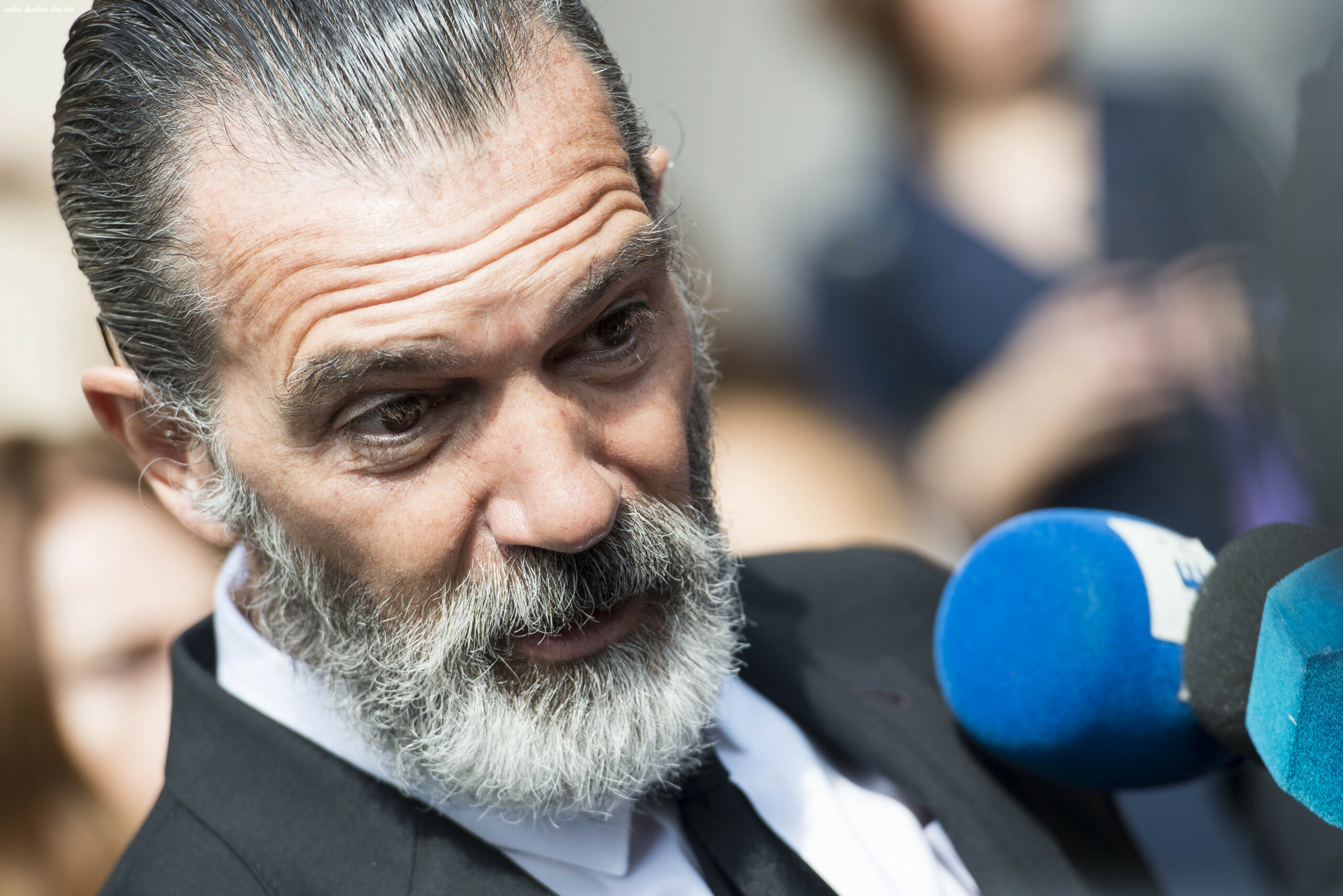 Antonio banderas looks very different after shaving off his hair