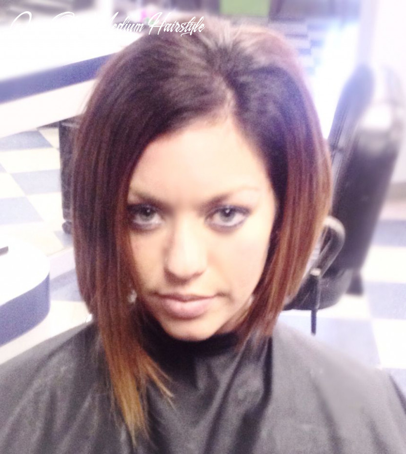 Asymmetrical haircut short hair one side longer super texturized ...