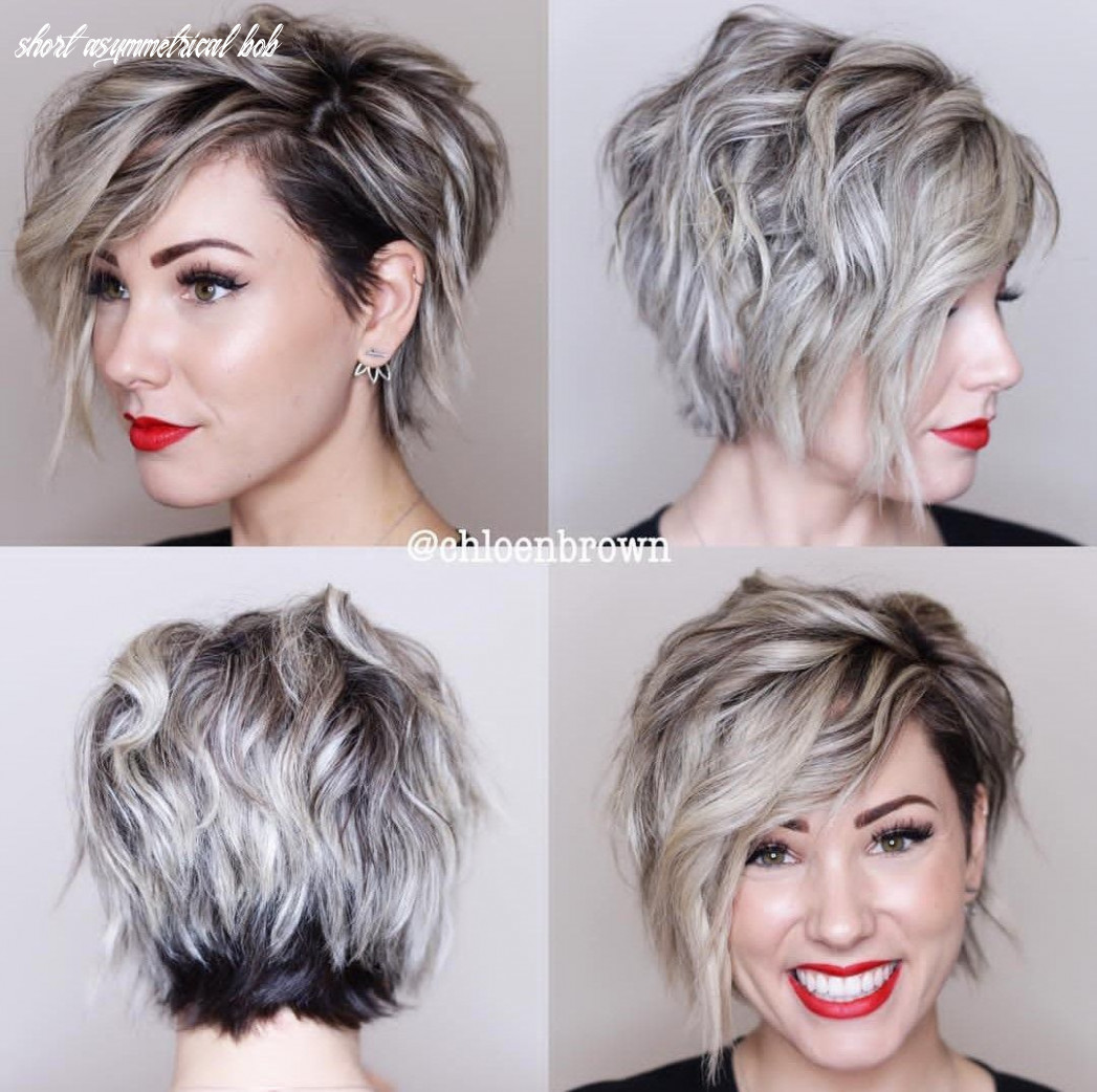Asymmetrical pixie bob 8 view | prom hairstyles for short hair