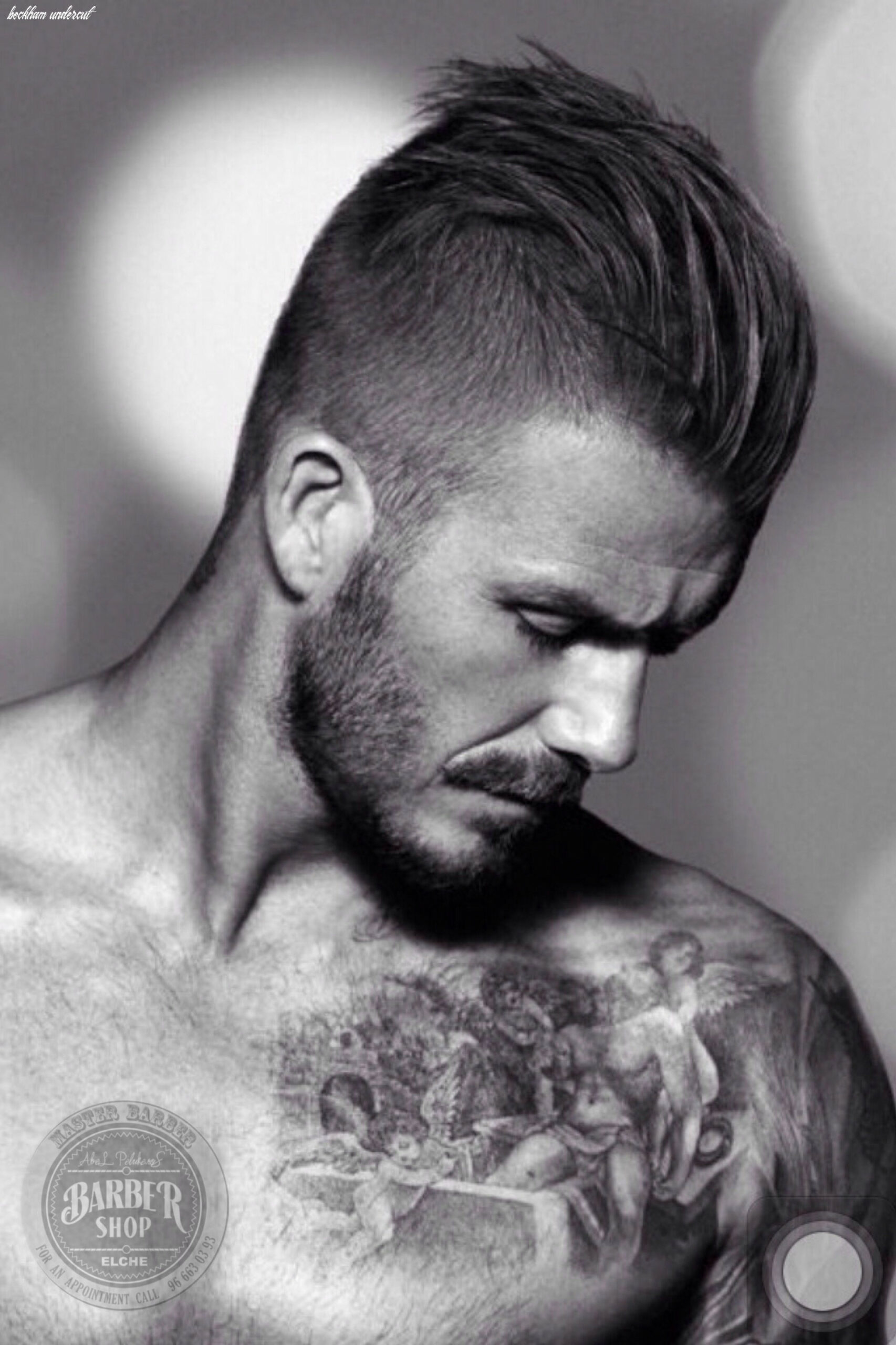 Awesome undercut hairstyle david beckham | coupe homme, coiffeurs