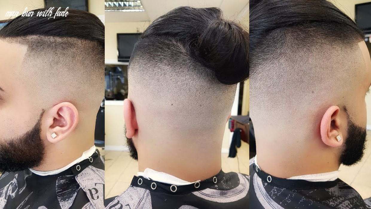 Barber by birth presents man bun with a high skin fade youtube man bun with fade