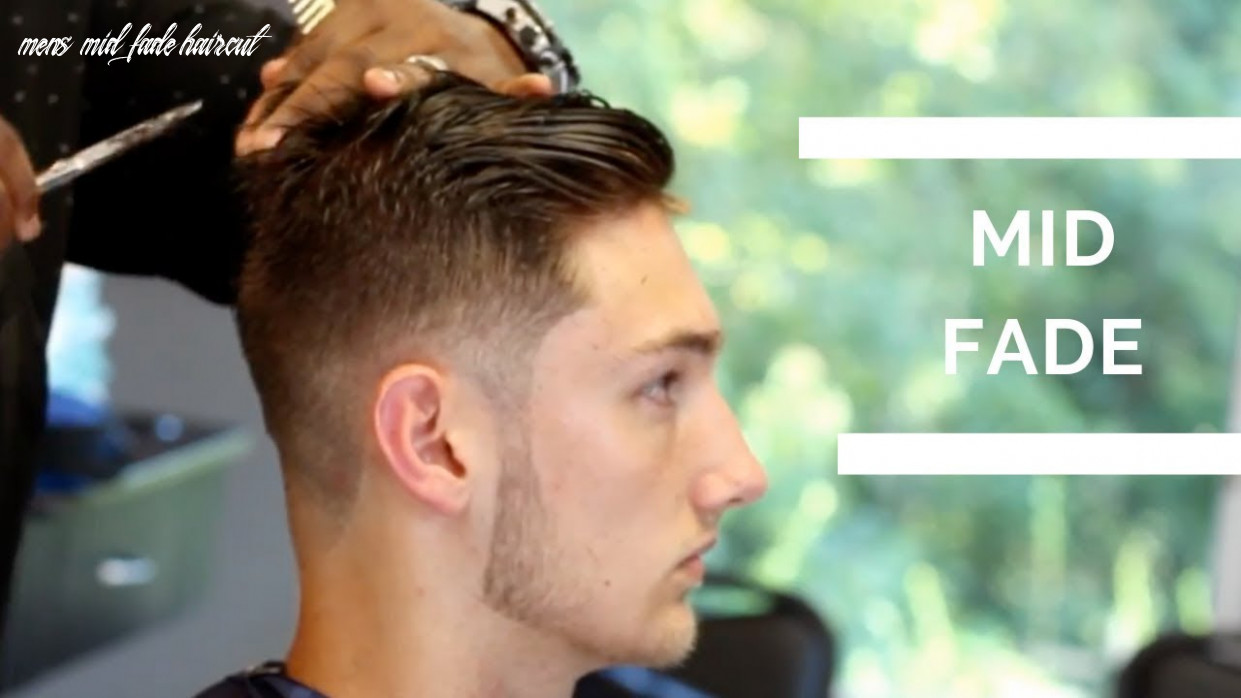 Barber tutorial mid fade haircut with textured top mens mid fade haircut
