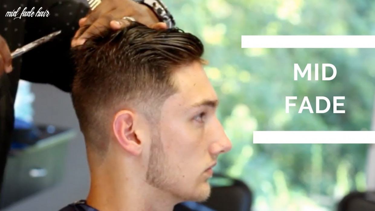 Barber tutorial mid fade haircut with textured top mid fade hair