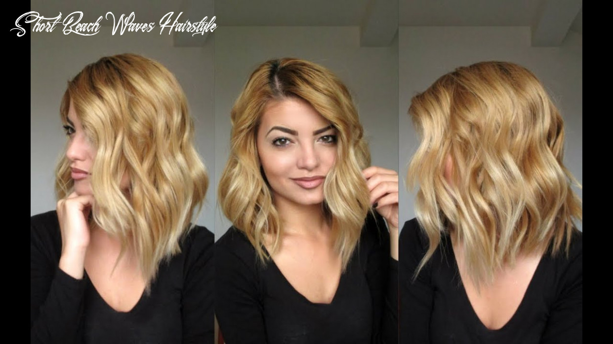 Beachy waves hair tutorial short beach waves hairstyle