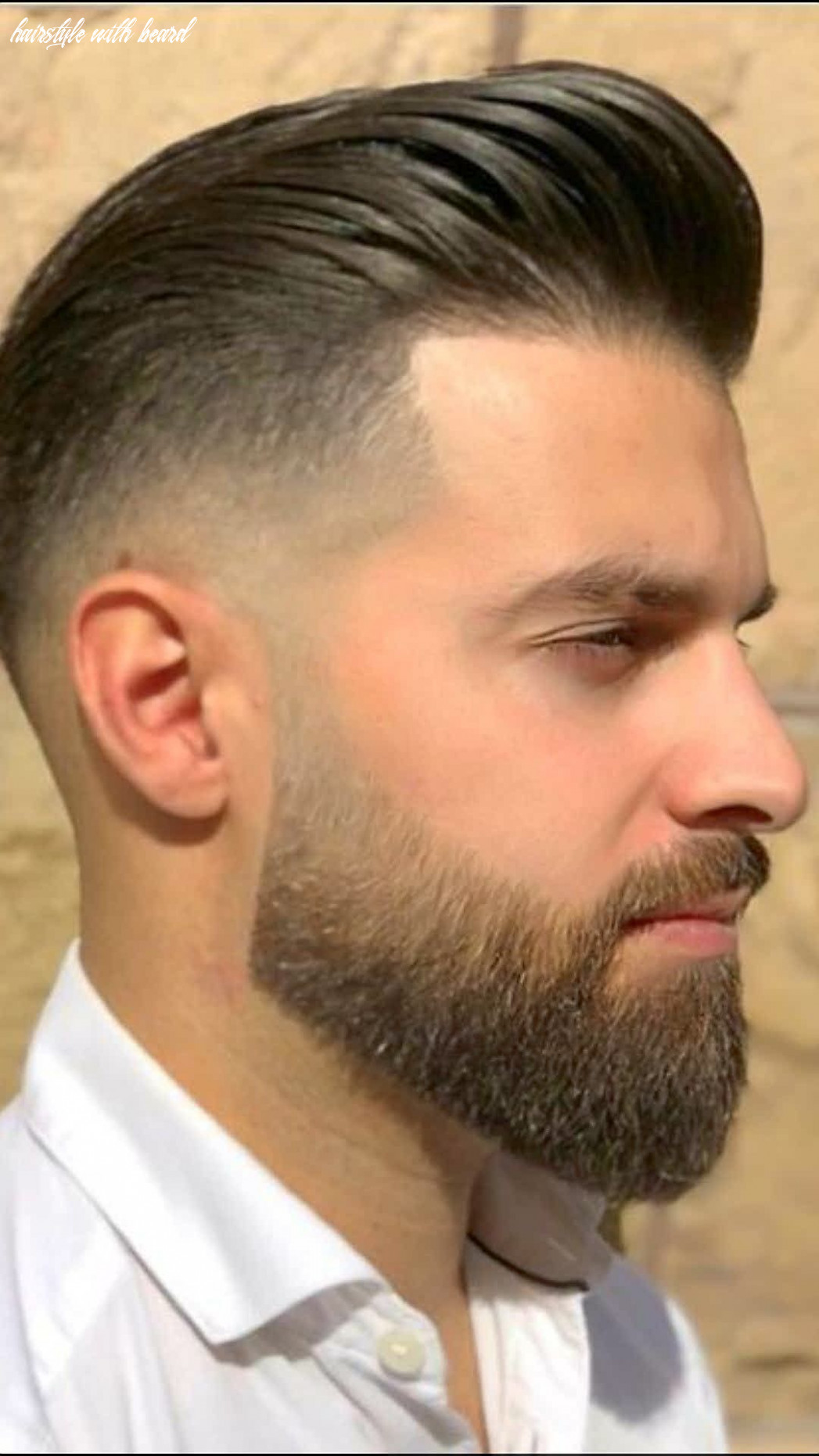 Bearded 🧔🏻 gorgeous with hairstyle !! | beard styles short, best