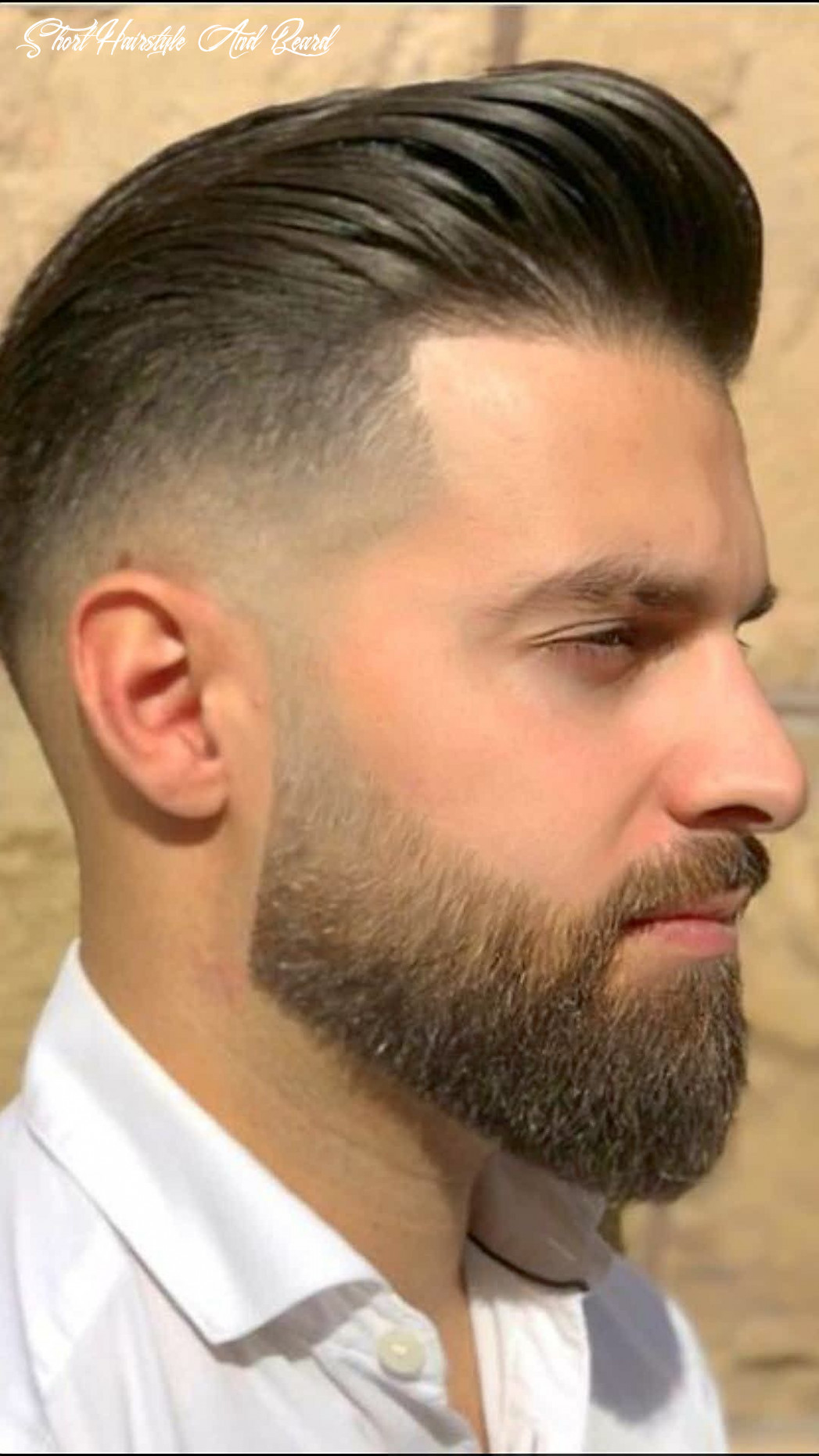Bearded 🧔🏻 gorgeous with hairstyle !!   beard styles short, best