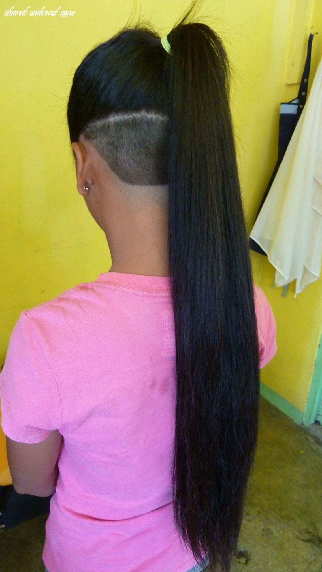 Beautiful buzzed undercut with a long, silky ponytail magnificent