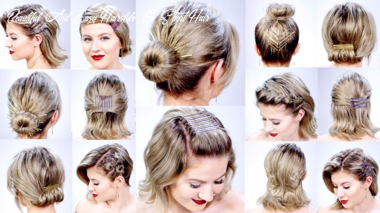 Beautiful easy hairstyles for short hair – summer | short hair