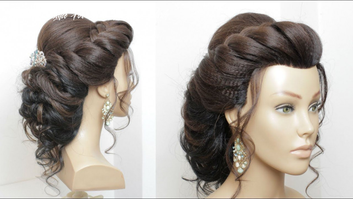Beautiful hairstyle for wedding, party, function bridal updo