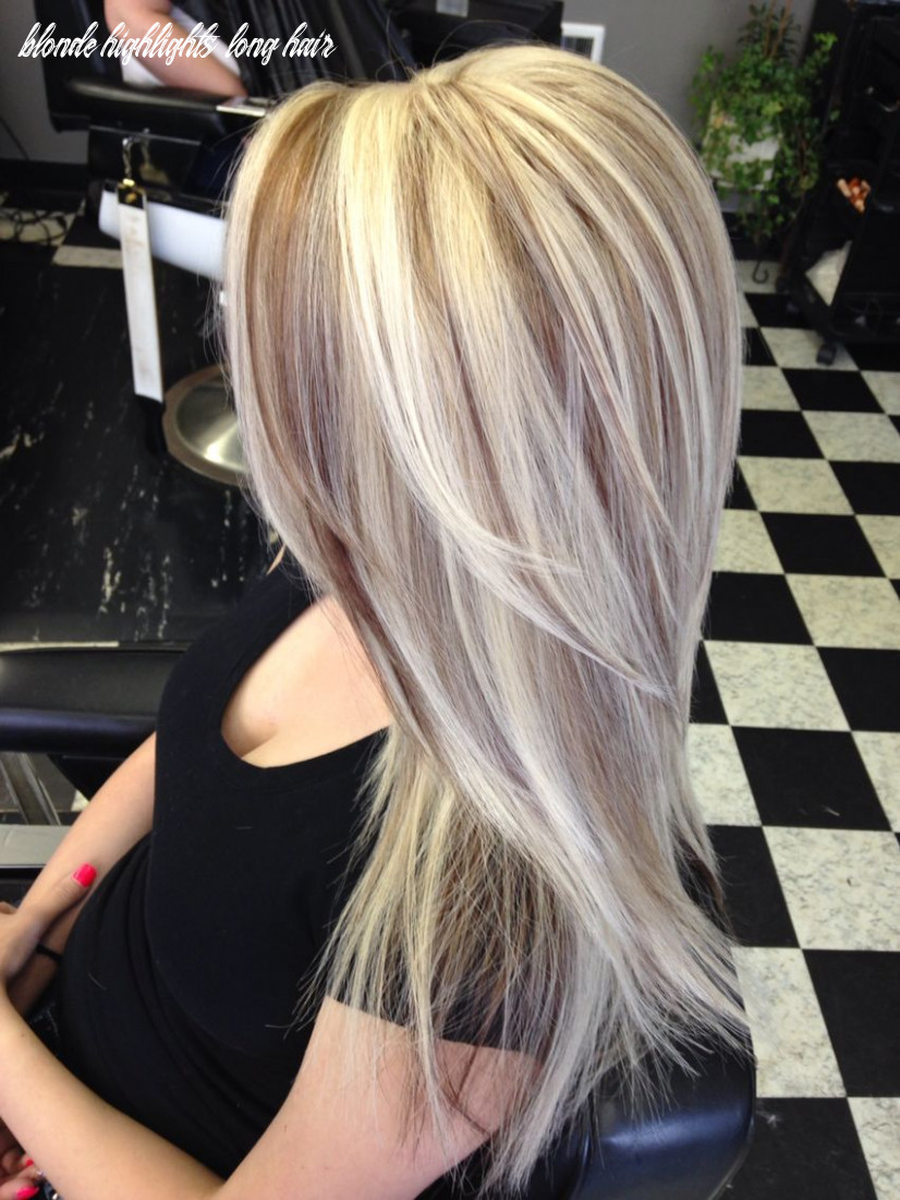 Beautiful long hair with blonde highlights and brown lowlights