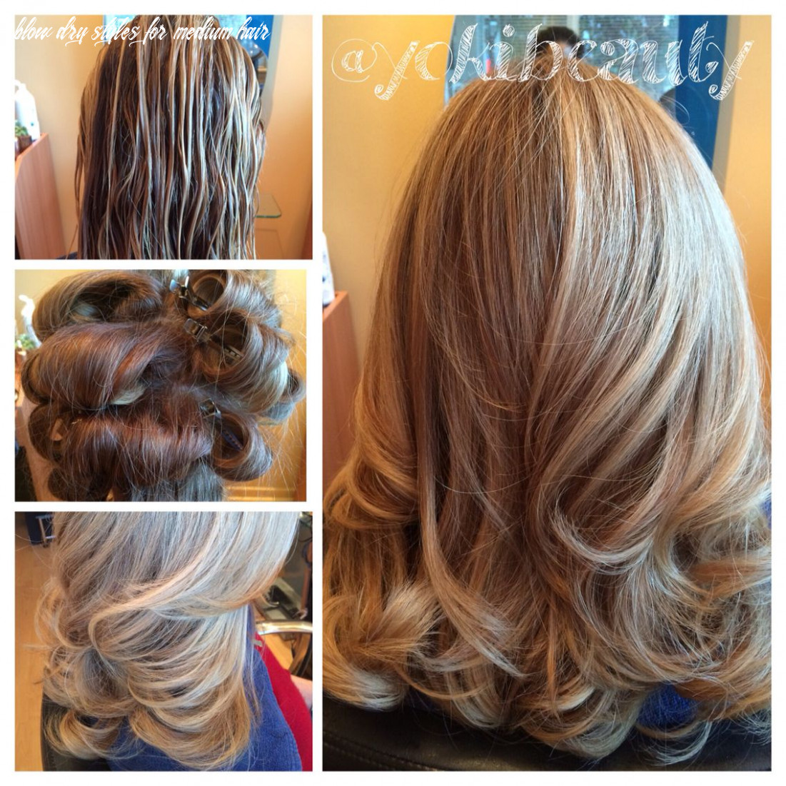 Before and after pin curl as you blowdry let hair while in pin
