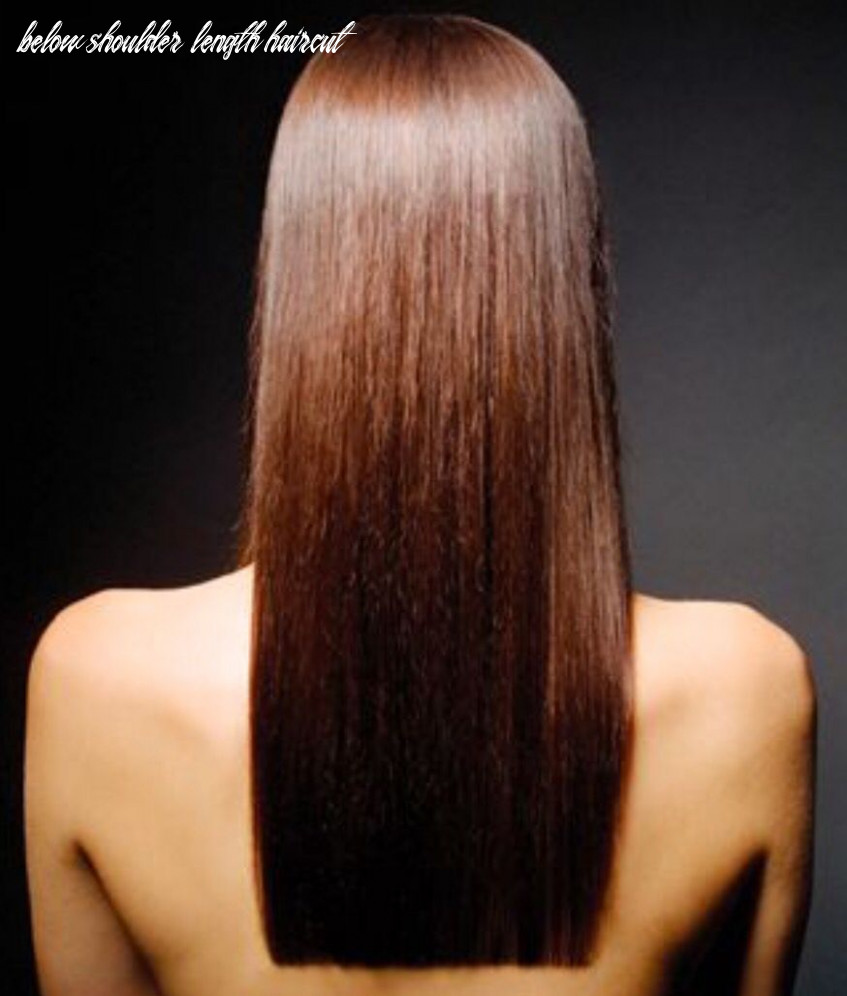 Below the shoulder | one length hair, one length haircuts, long