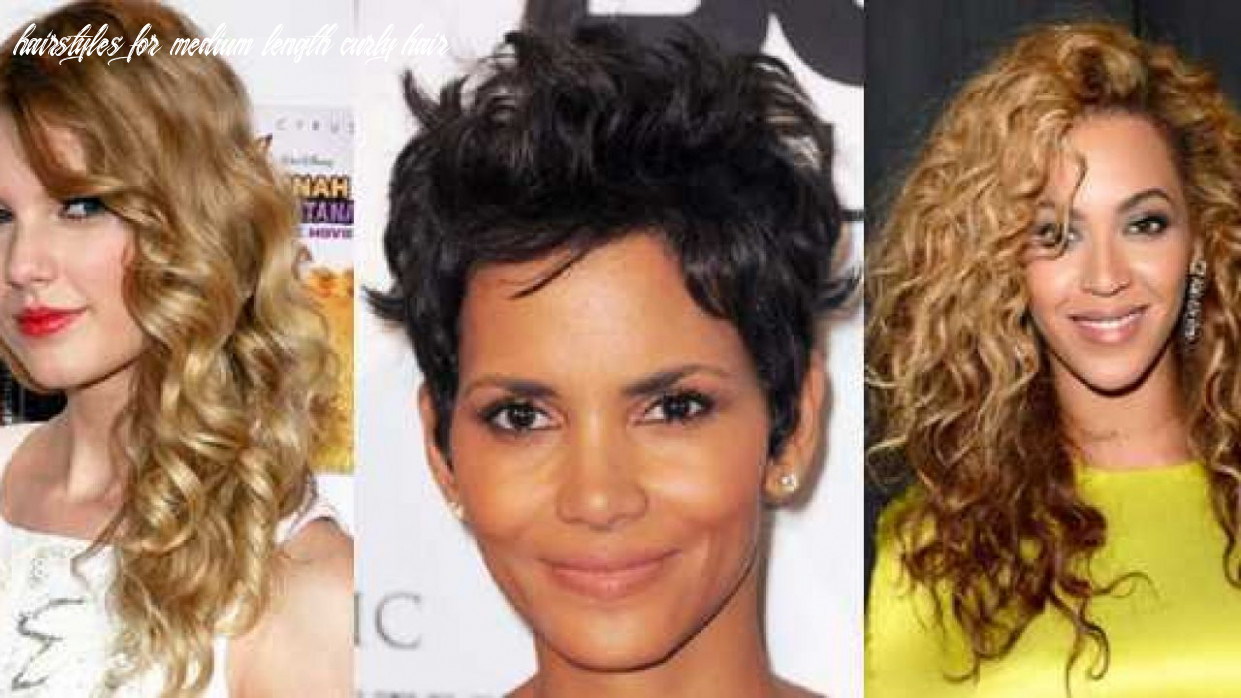 Best 10 medium length hairstyles for curly hair on round face