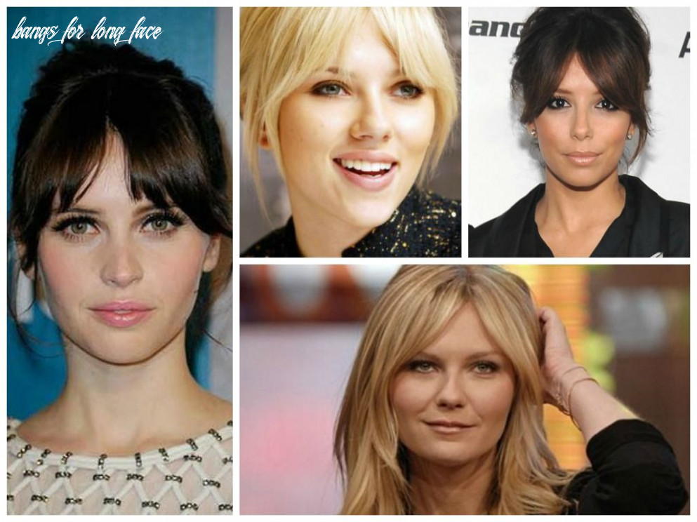 Best bangs for a long face shape | face shape hairstyles, long