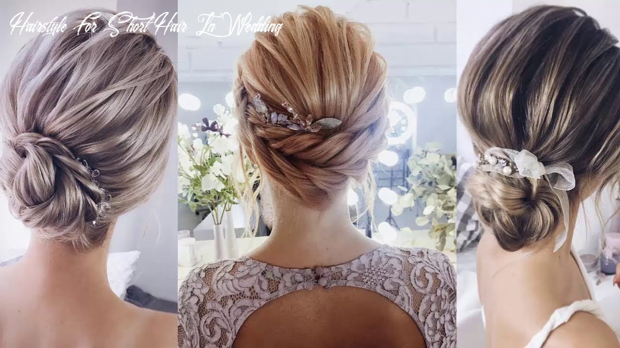 Best beautiful bridal hairstyles 8 for short hair women