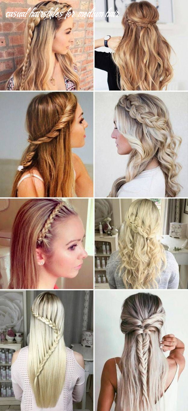 Best cute hairstyles for a casual day | easy hairstyles for long