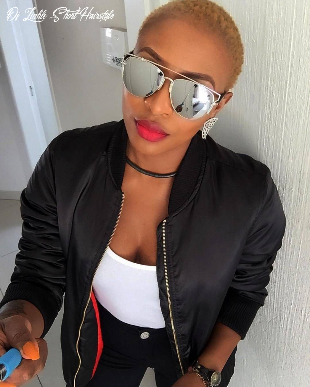 Best dj zinhle short hairstyle | short hair styles, mirrored