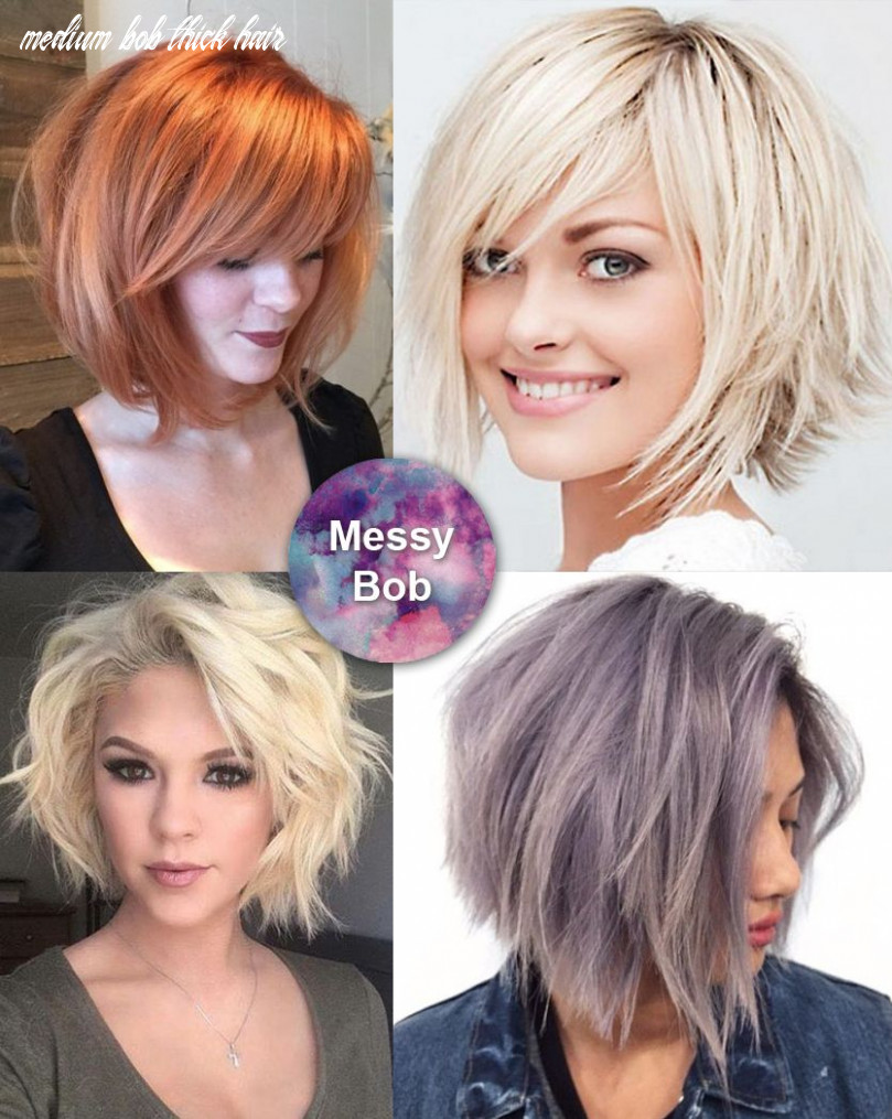 Best medium length hairstyles for thick hair – circletrest medium bob thick hair