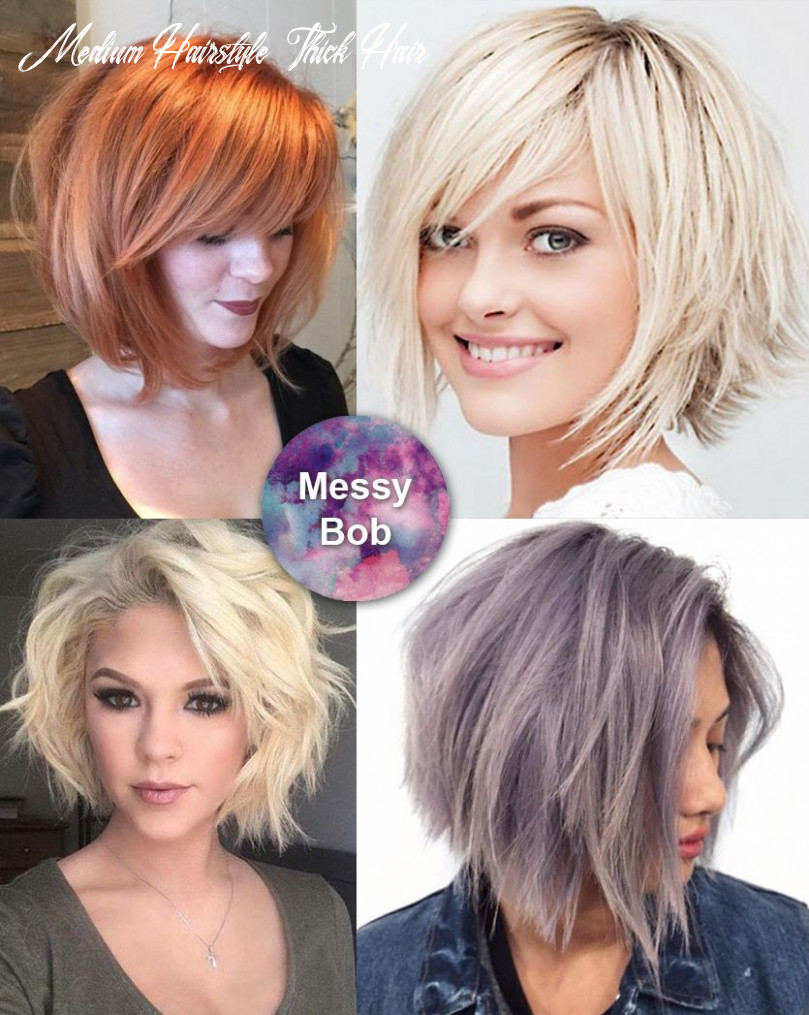 Best medium length hairstyles for thick hair – circletrest medium hairstyle thick hair