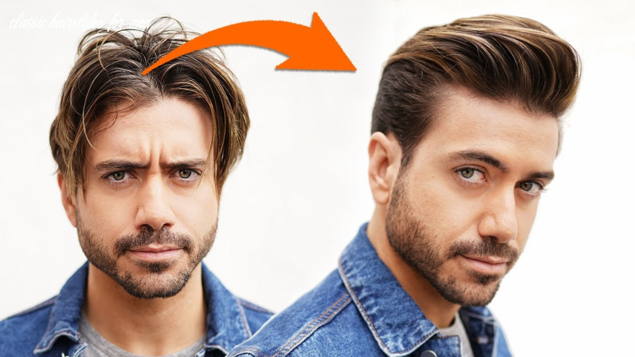 Best Men's Hairstyle w/ Longer Sides 12 | Classic Quiff for Men | Alex  Costa